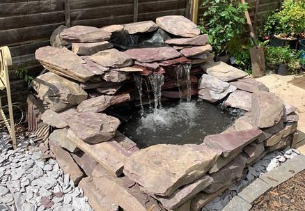 Custom Slate Pond & Waterfall