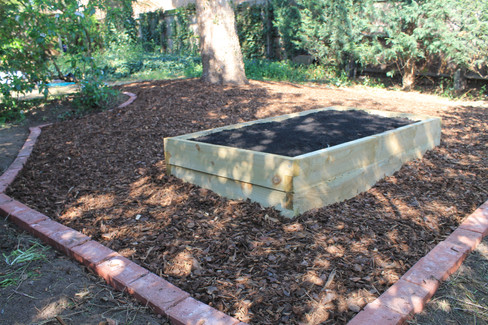 Raised Bed & Barked Area