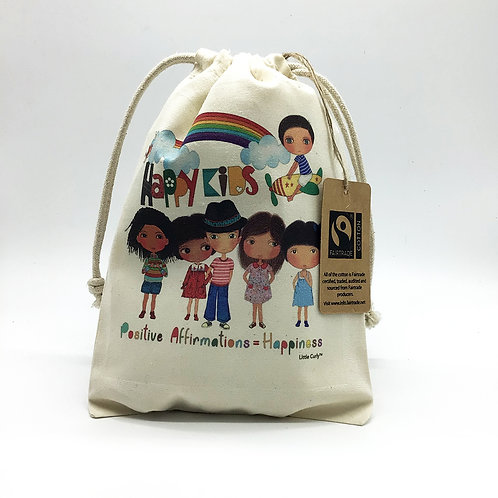 Happy Kids Drawstring Bag (S)