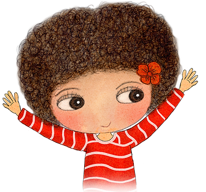 Affirmations for kids, Little Curly, I am happy, my daily affirmations, I love affirmations, I am creatiive