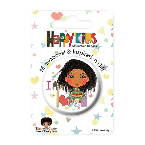 """I Am Loved"" Affirmation Badge"