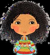 Positive affirmations, I am affirmation cards, kind words for kids, I am loved, self-loved image, little alfo girl, happy kids characters, little curly, children illustrations. girl show her love