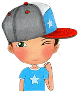 Be positive, I am strong, affirmations for kids, happy kids characters, children illustration, boy wear cap, children well-being character