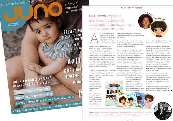 affirmations for kids, juno magazine uk, positive affirmations, happy kids affirmation cards, little curly, ella parry, mindful kids, children affirmations, children well-being