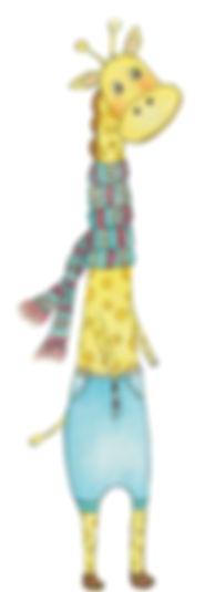 cute giraffe, woodland anilma, tall giraffe, little curly, sweet giraffee, illustration of giraffee
