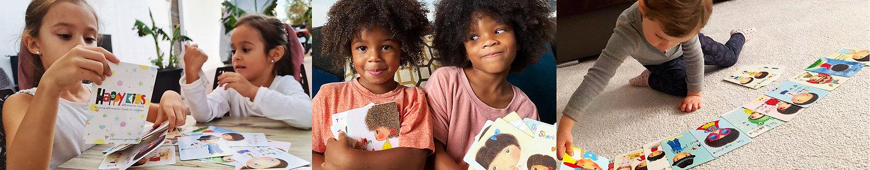 Affirmatioms, Affirmation cards for kids, happiness gifts, gifts for kids, mindfulness gifts, happy kids, positive gfits, inspirational gifts, motivational gfits Little Curly, Happy Kids affirmation cards