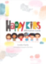 Happy Kids Affirmation Cards, Positive thought cards, for kids, cute characters, mindful parents, art for children, confidence building tools for kids, simple positive messages, A6 cards, Little Curly, inner voice