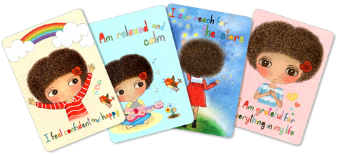 Happy Kids Affirmation Cards, Positive, Affirmations for kids, Iamcards, Mindfulness, positive parents