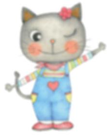 Little Curly, cute cat, sweet little cat, cartoon cat, back cat, lovely kitty