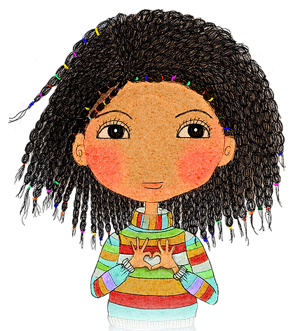 Happy Kids Affirmation Cards, Happy Kids, Coco, I am loved, Positive affirmation, Little Curly, mixed-race girl, back girl, cocnut, Little Curly