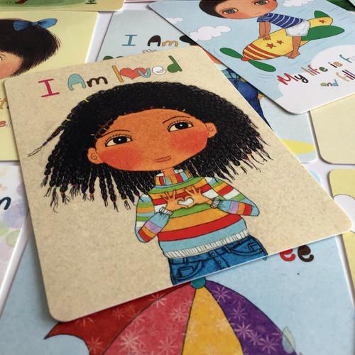 Happy Kids Affirmation Card, I am Loved