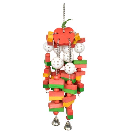 吊串狀鳥用彩色咀嚼益智玩具(中大型鳥類) - 520 x 60mm