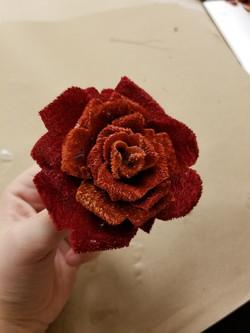 Silk velvet rose