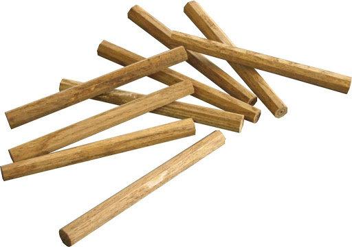 "GOUJONS en bois franc octogonaux 3/4"" x 24"""