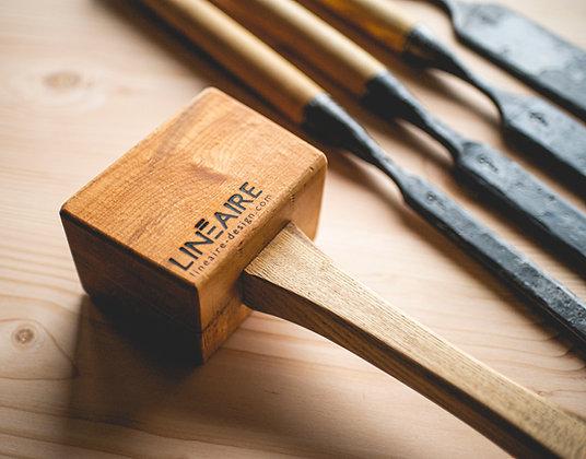 Maillet de CHARPENTIER en bois franc