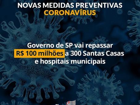Governo do Estado vai repassar R$100 milhões a 377 Santas Casas e Hospitais Municipais