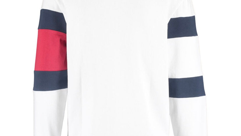 TOMMY JEANS White Rugby Logo Polo Shirt