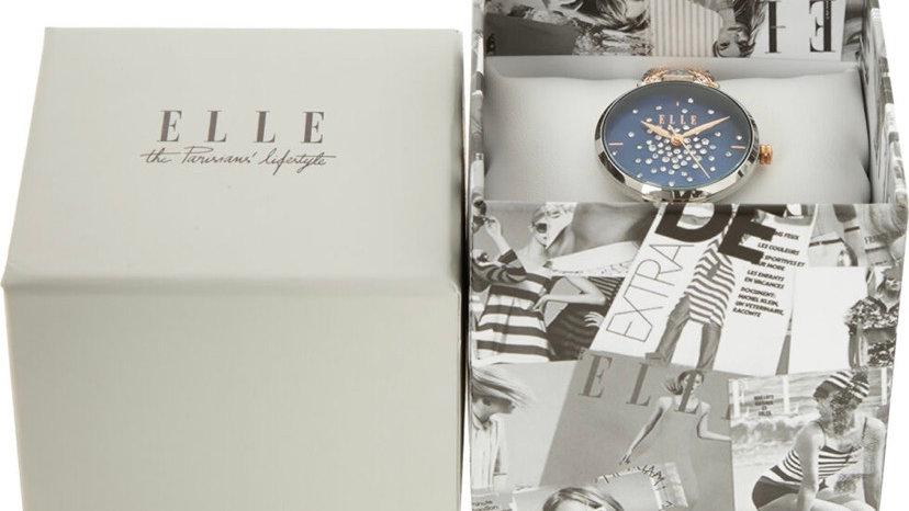 ELLE Rose Gold & Silver Tone Embellished Watch