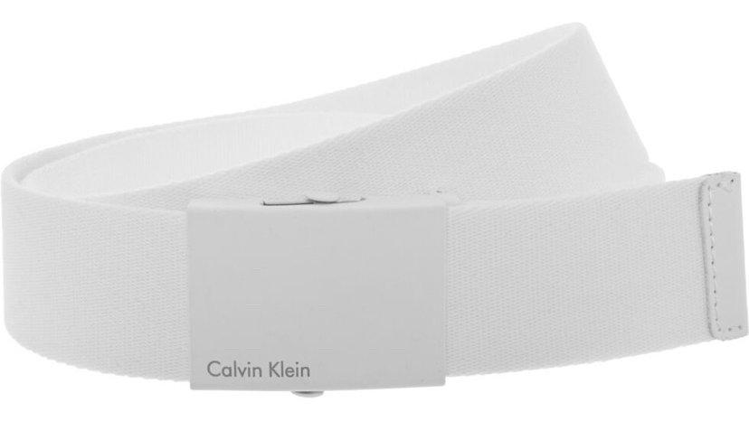 CALVIN KLEIN White Buckle Fastened Belt