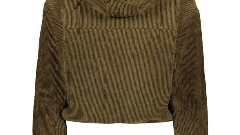 ASHLEY BY 26 INTERNATIONAL Green Cord Lined Hoodie