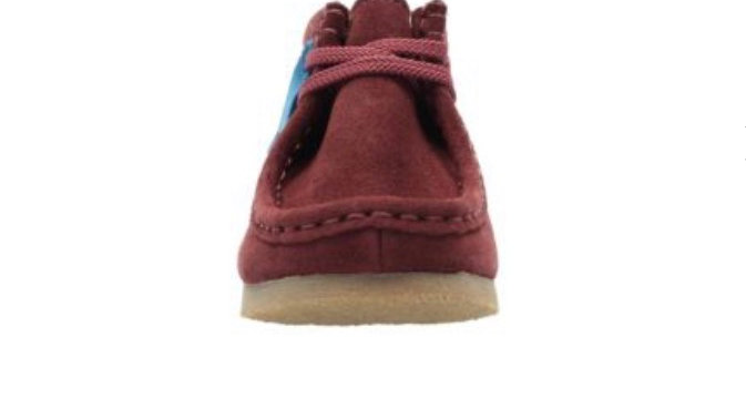 Clark's Wallabee Boot Inf - G Fit Burgundy Suede
