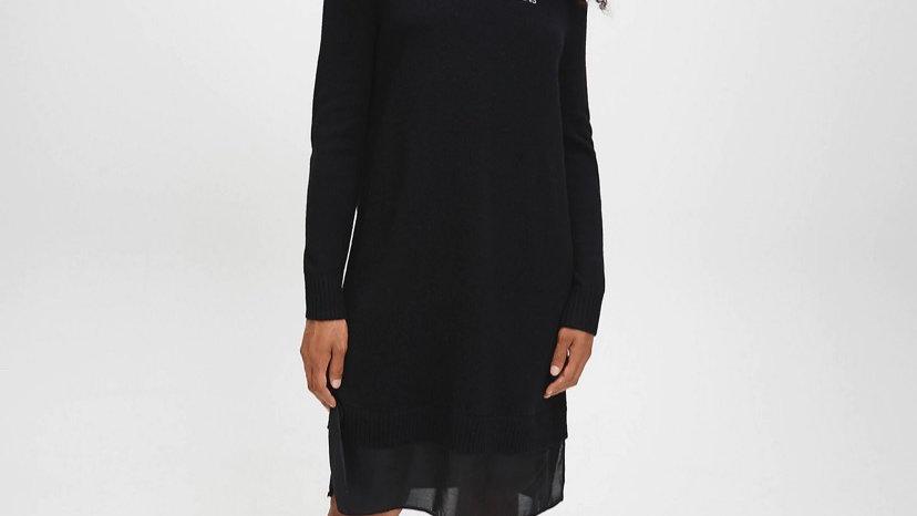 Calvin Klein - MATERIAL MIX JUMPER DRESS