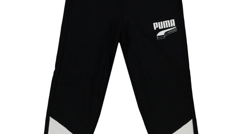 PUMA Black & White Regular Joggers
