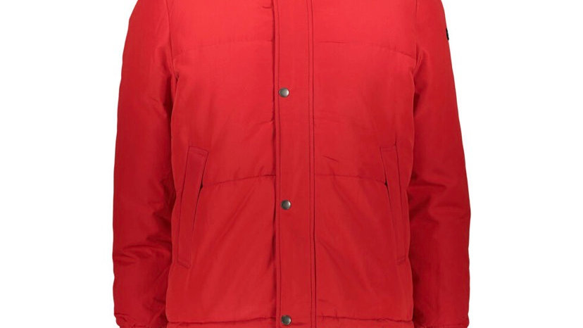 CENSURED Red Quilted Zip-Up Coat