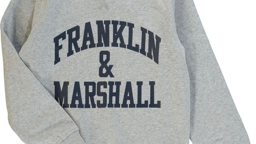 FRANKLIN MARSHALL Grey Crew Neck Sweatshirt )