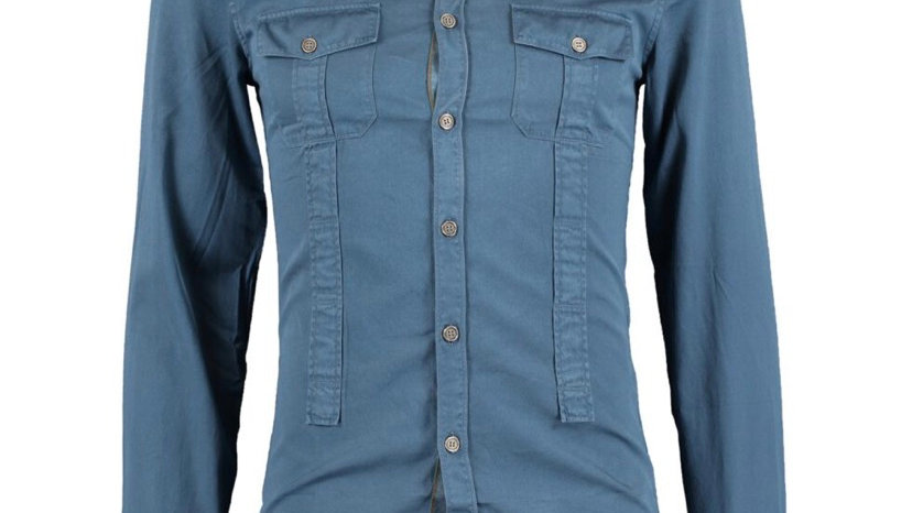 GUCCI Blue Long Sleeve Shirt