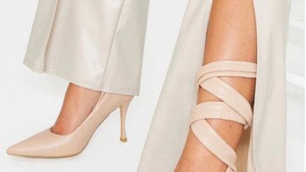 PU Ankle Tie Court Shoe