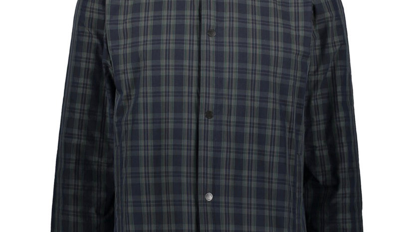 NORSE PROJECTS Navy Checkered Overshirt