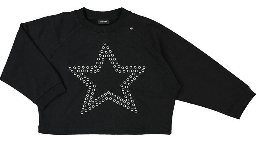 DIESEL Black Star Crew Neck Jumper