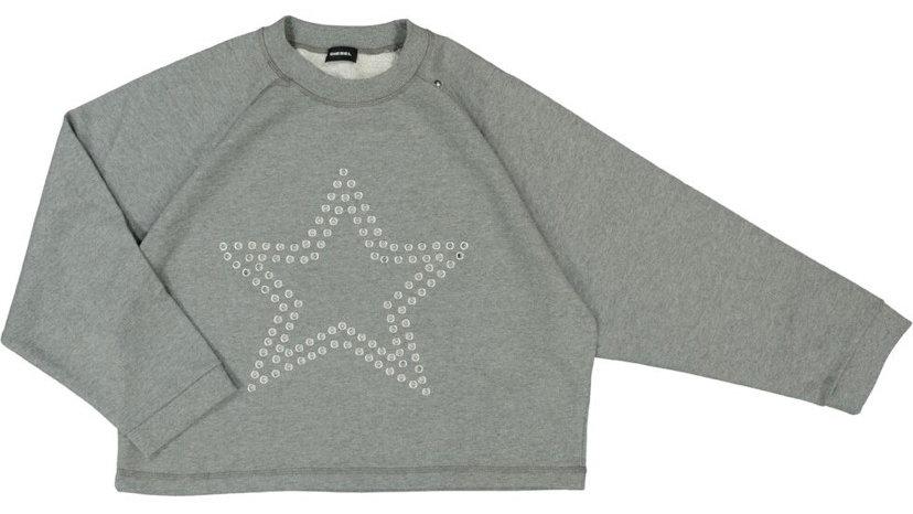DIESEL Grey Eyelet Star Sweatshirt