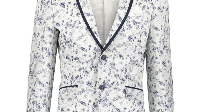 ROBERT SIMON Blue Floral Blazer