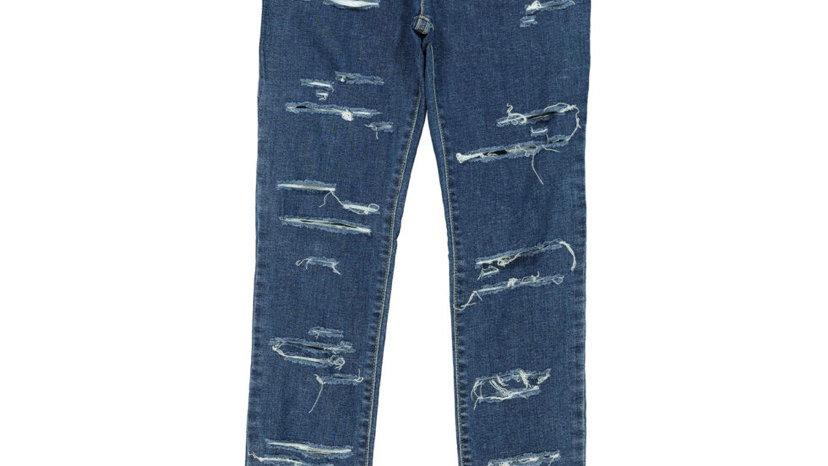 DIESEL Blue Ripped Skinny Denim Jeans
