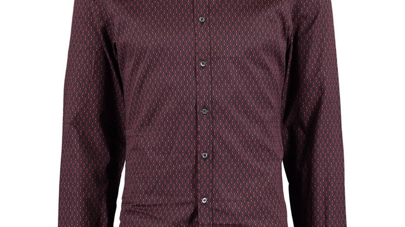 GUCCI Navy & Purple Geometric Shirt