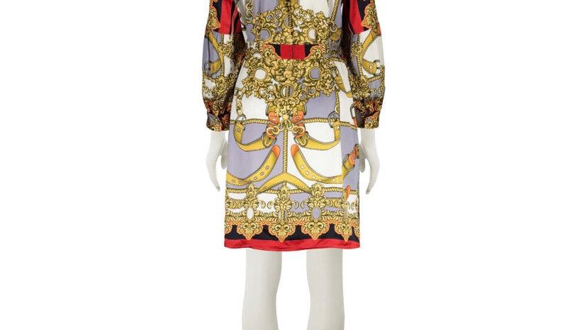ANNI CARLSSON Multicoloured Contemporary Button Dress