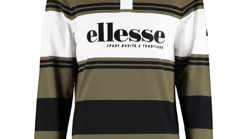 ELLESSE Multicoloured Stripe Rugby Top
