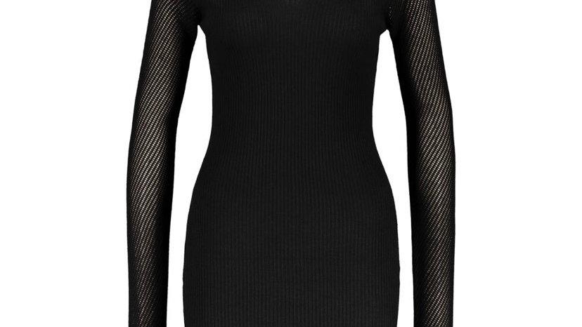 LOVE ALWAYS Black Bodycon Jumper Dress
