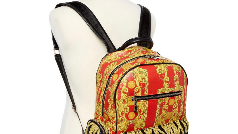 REASON Red Chain Motif Backpack