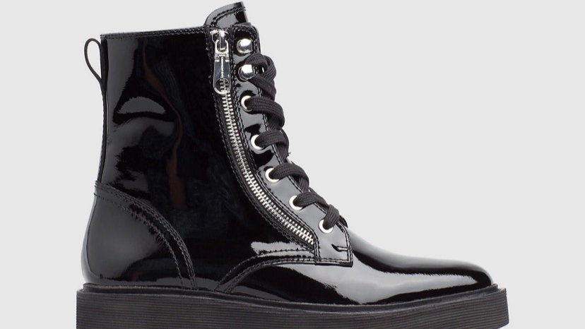 Calvin Klein - PATENT LEATHER ANKLE BOOTS