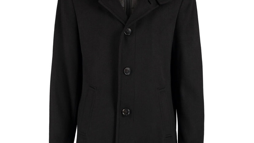 FERAUD Black Padded Lining Overcoat