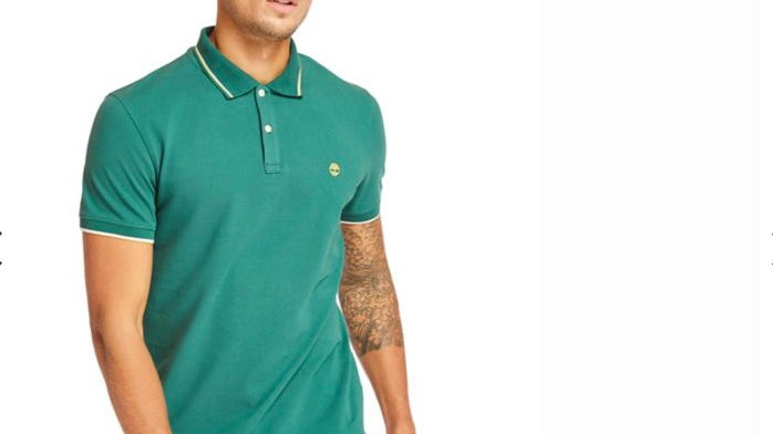 Timberland - MILLERS RIVER TIPPED POLO SHIRT GREEN