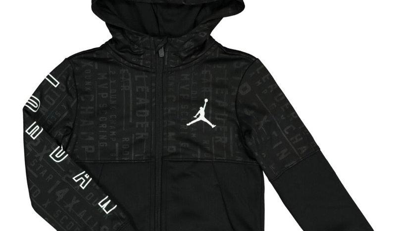 AIR JORDAN Black Logo Fleece Hoodie