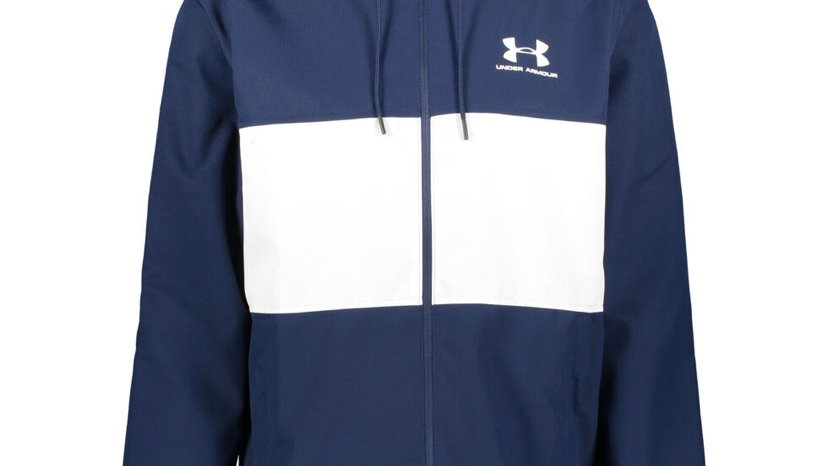 UNDER ARMOUR Blue Hooded Mesh Lined Jacket
