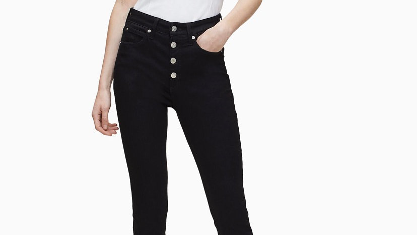Calvin Klein - HIGH RISE SUPER SKINNY ANKLE JEANS