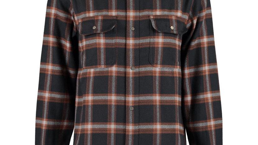 FAT MOOSE Navy Check Overshirt