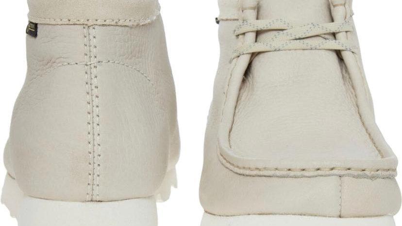Clark's Originals Wallabee Leather Off White (UK7,8,9)
