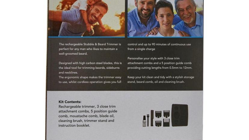 WAHL Black Rechargeable Stubble & Beard Trimmer